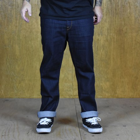 Volcom Solver Denim Jeans Rinse in stock now.
