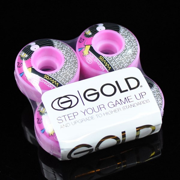 Gold Wheels Brat Boo Wheels Purple Swirl
