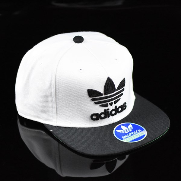 adidas Originals Thrasher Chain Snap Back Hat White, Black