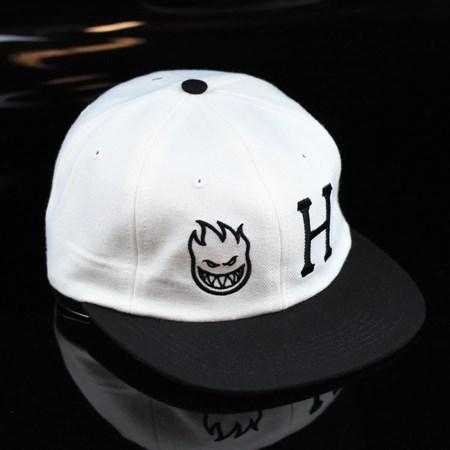 HUF HUF X Spitfire 6 Panel Strap Back Hat White