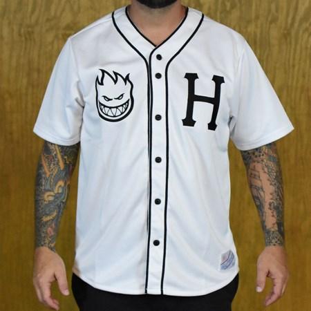 HUF HUF X Spitfire Baseball Jersey White