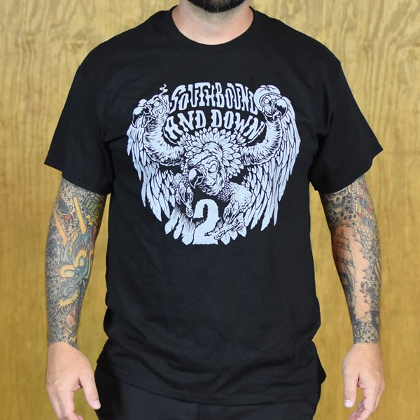 The Boardr South Bound And Down 2 T Shirts Black