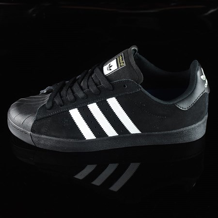 adidas Superstar Vulc ADV Shoes Black Suede, Black, White