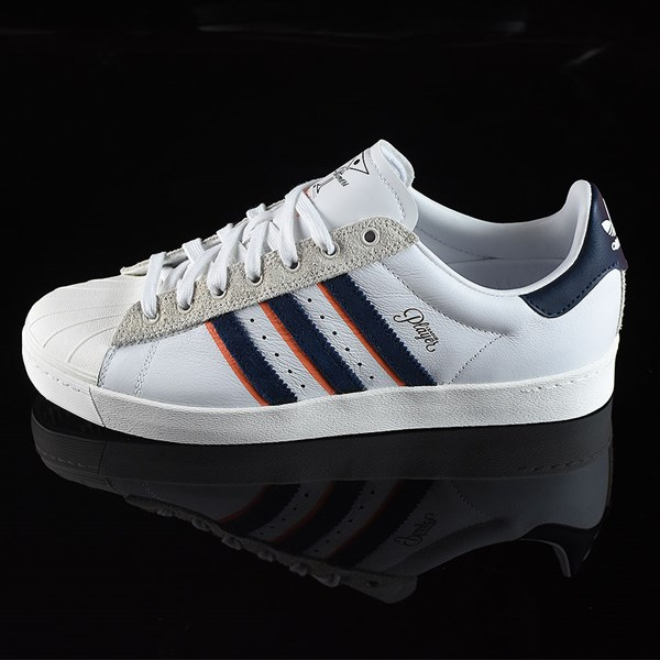 new arrival 9acbe 35833 Superstar Vulc ADV Shoes Alltimers, White, Navy, Orange In ...