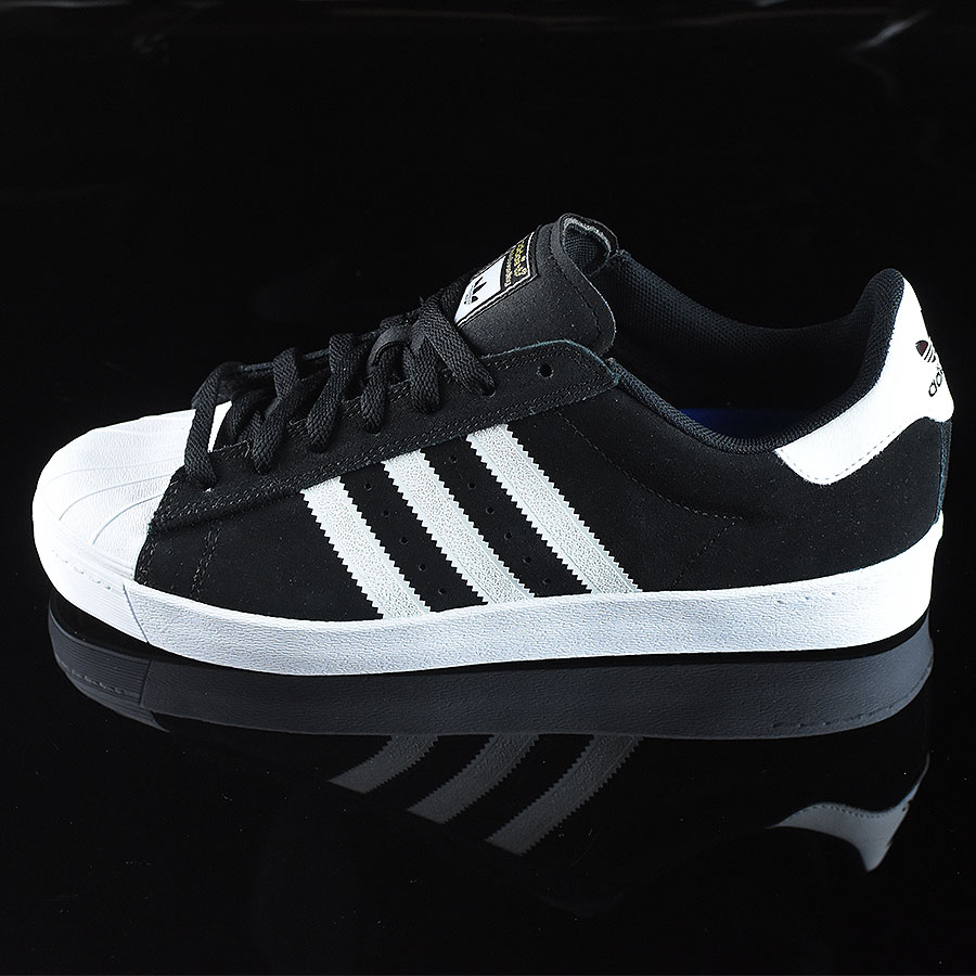adidas superstar vulc black white