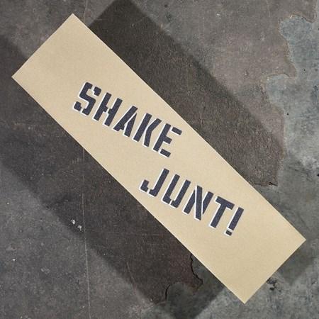 Shake Junt Sprayed Griptape Clear, Black in stock now.