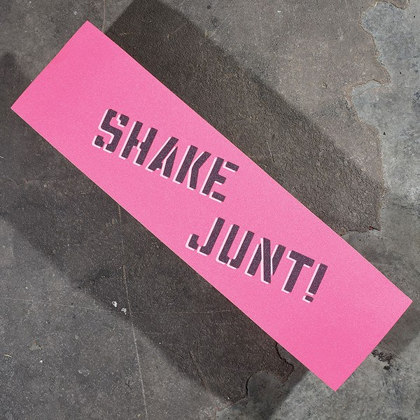 Shake Junt Sprayed Griptape Pink, Black, White