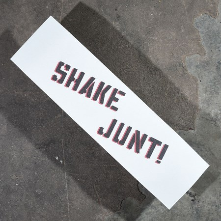 Shake Junt Sprayed Griptape White, Black, Red