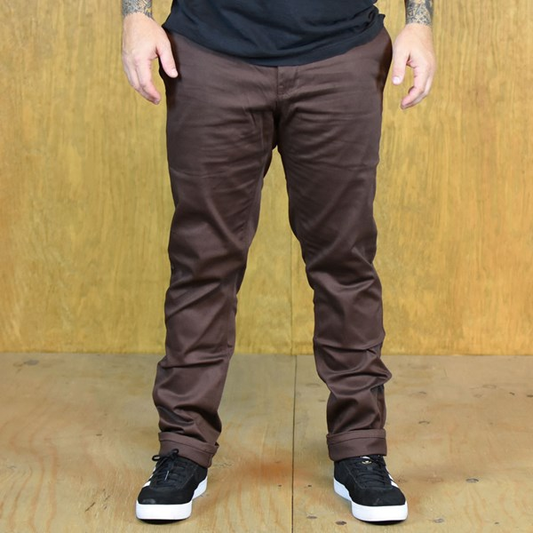 HUF Fulton Slim Chino Pants Brown
