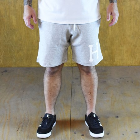 Size Large in HUF PT Fleece Shorts, Color: Heather Grey