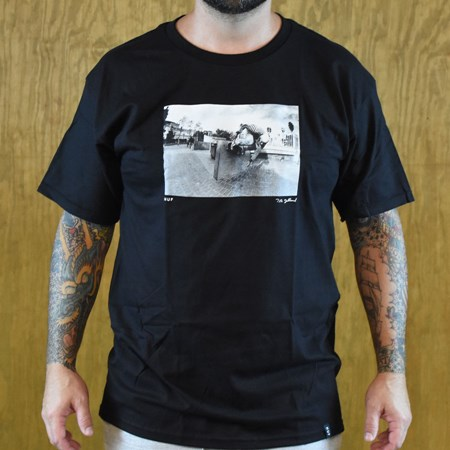 "HUF Tobin Yelland ""Mic E Reyes"" T Shirt Black"