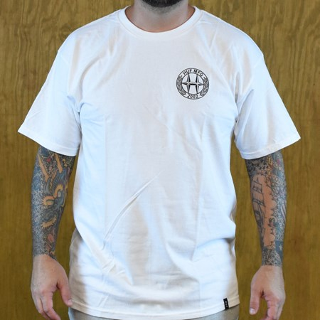 HUF H-Class T Shirt White in stock now.