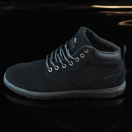 Size 8 in Emerica Wino Cruiser Hi LT Shoes, Color: Black, Black