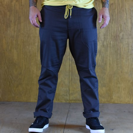 Size Large in Brixton Reserve Standard Fit Drawstring Pants, Color: Washed Black