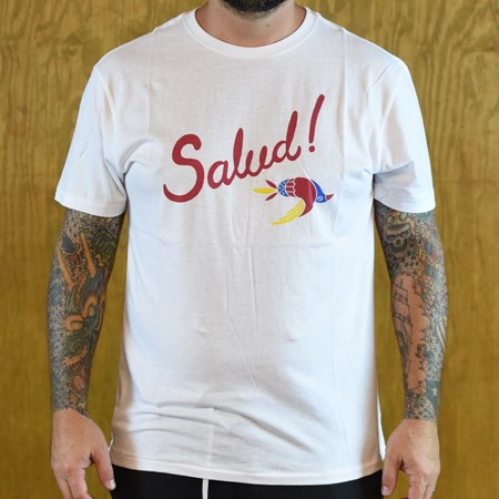 Brixton Salud Premium T Shirt White in stock now.