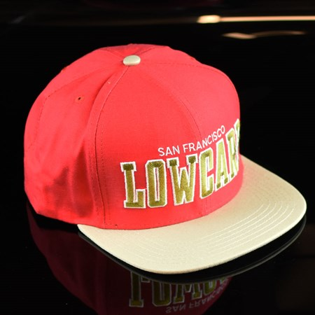 Lowcard Magazine Team SF Snap Back Hat Red