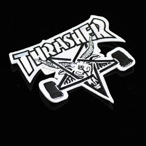 Thrasher Skate Goat Patch White