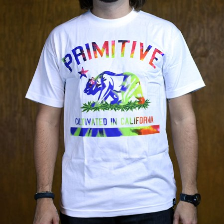 Primitive Cultivated Tie Dye T Shirt White