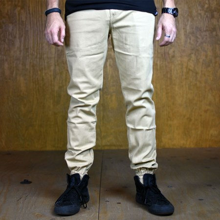 Size 34 in Primitive Carnaby Joggers, Color: Khaki