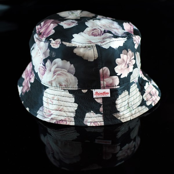 Primitive Rose Noir Bucket Hat Black