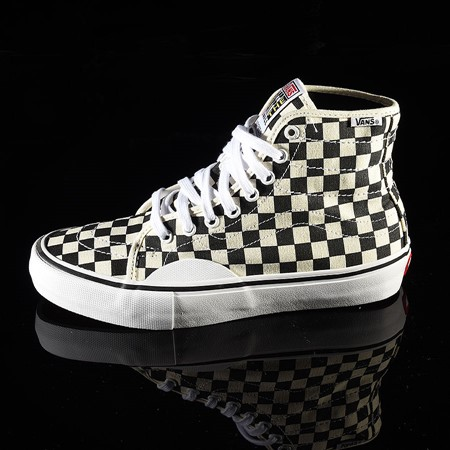 Size 11 in Vans AV Classic High Shoes, Color: Black, White Checkerboard