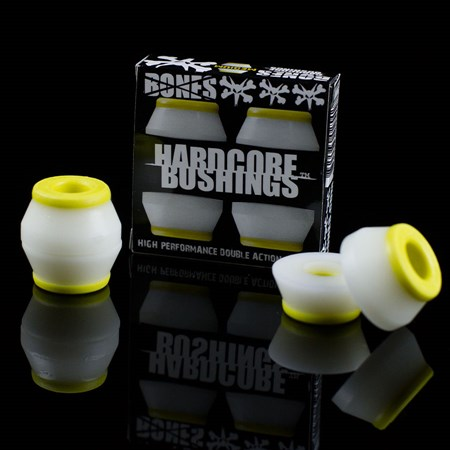 Bones Wheels Hardcore Bushings Yellow, White in stock now.