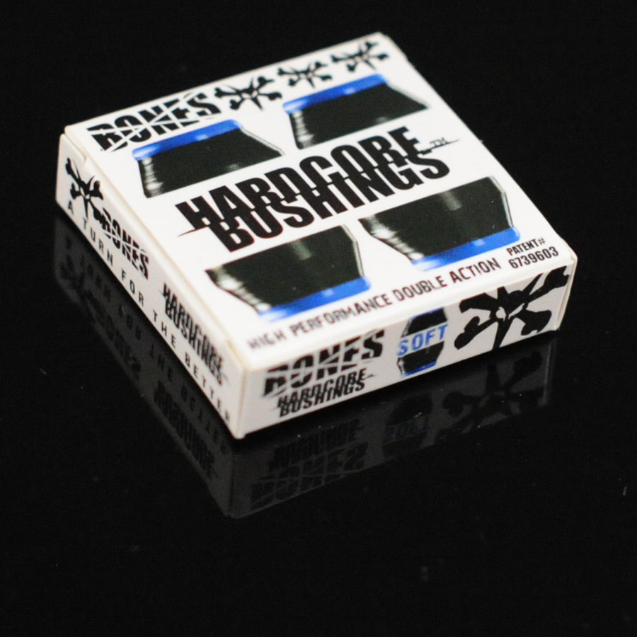 Blue, Black Hardware Hardcore Bushings in Stock Now