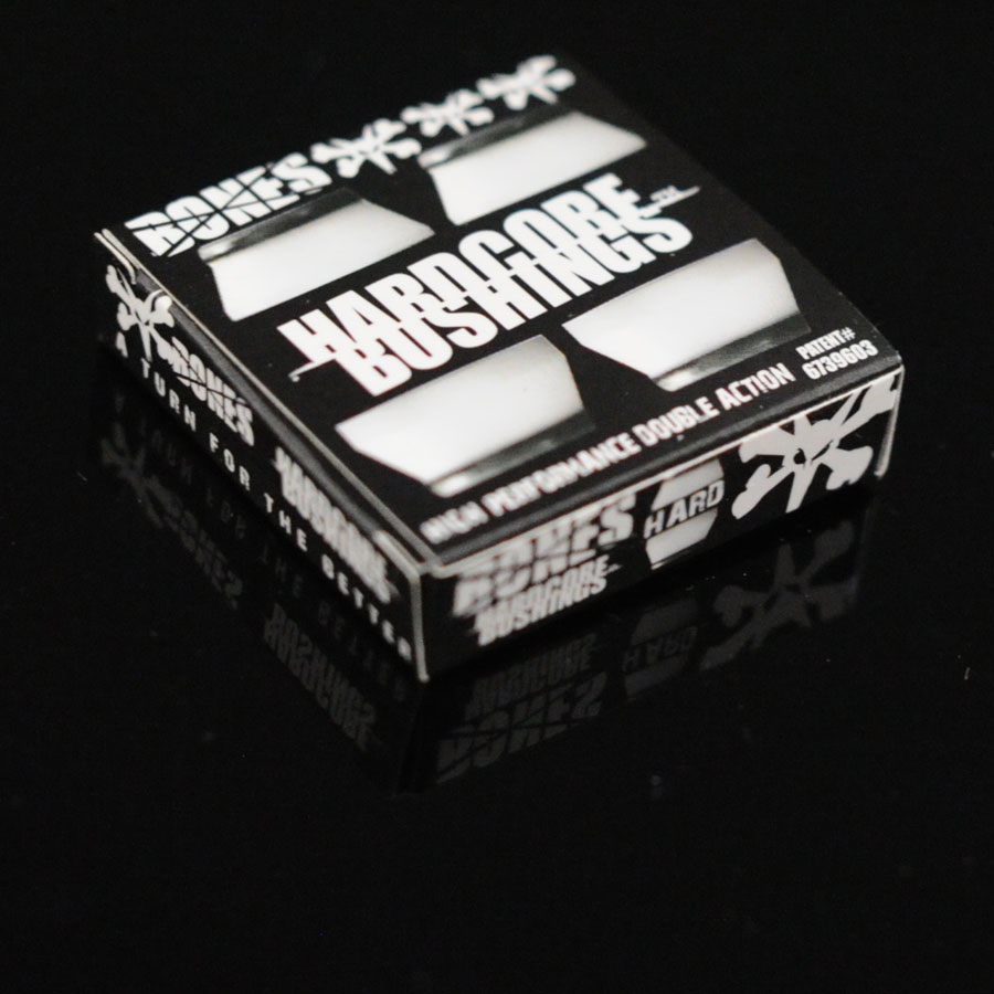 Black, White Hardware Hardcore Bushings in Stock Now