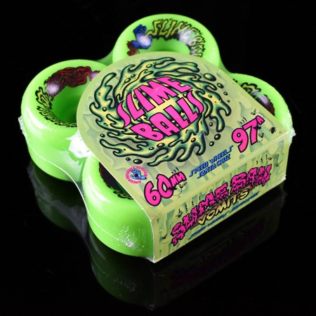 Santa Cruz Slime Balls Vomits Wheels Neon Green in stock now.