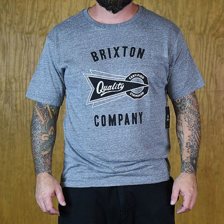 Brixton Cauder S/S T Heather Grey