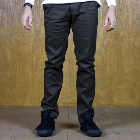 Size 30 in Brixton Reserve Rigid Standard Fit Chino Pant, Color: Brown
