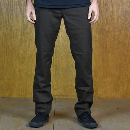Size 34 in Brixton Reserve Standard Fit Chino Pant, Color: Brown