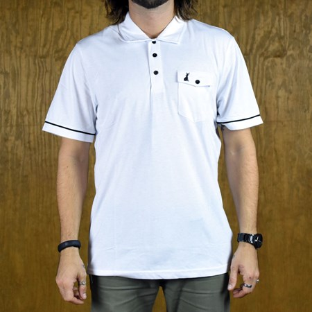Welcome Jackalope Polo Shirt White