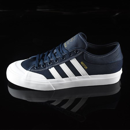 Size 9.5 in adidas Matchcourt Low Shoes, Color: Navy, White, Nestor