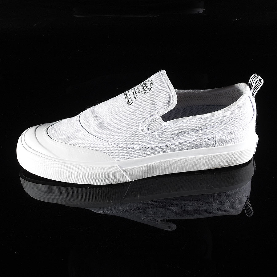 White, White Shoes Matchcourt Slip Shoes in Stock Now