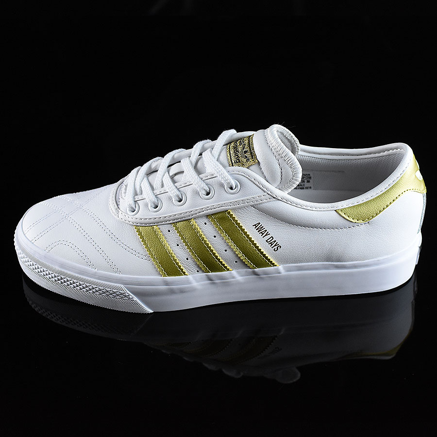 White, Gold Shoes Adi-Ease Premiere Away Days Shoes in Stock Now