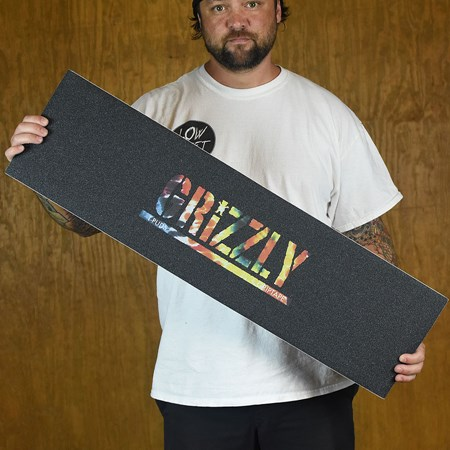 Grizzly Griptape Torey Pudwill Stamp Griptape Black, Orange Tie-Dye in stock now.