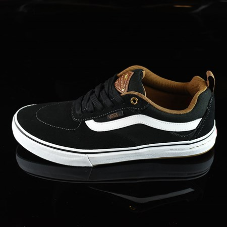 Size 8 in Vans Kyle Walker Pro Shoes, Color: Black, White, Gum