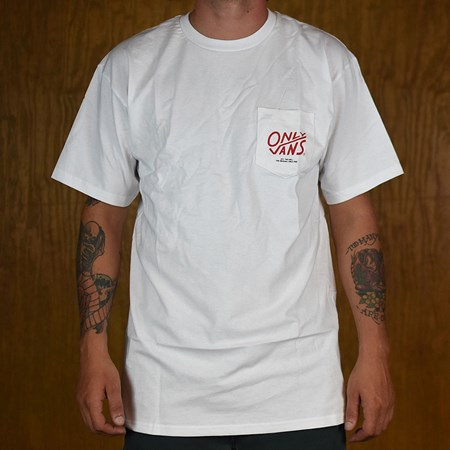 Vans Vans X Only NY Pocket T Shirt White in stock now.
