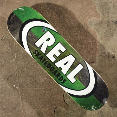 Real Double Dip Oval Deck Black, Green in stock now.