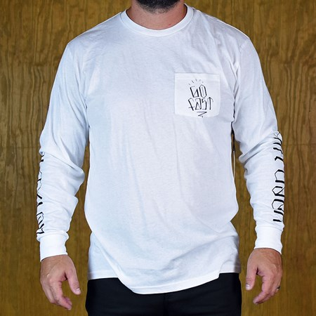 Brixton Hard Luck FU Knoxx L/S T Shirt White