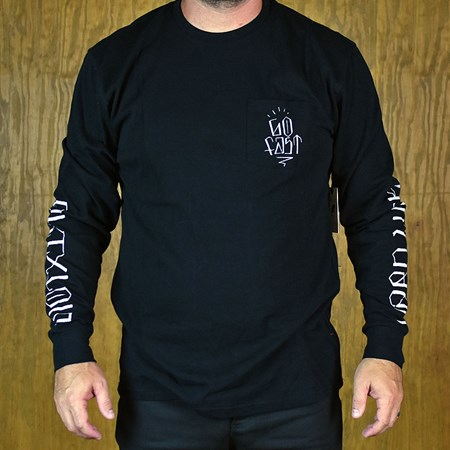Brixton Hard Luck FU Knoxx L/S T Shirt Black