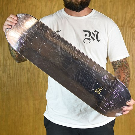 Primitive Shane O'Neill Smoke Foil Spider Deck Smoke in stock now.