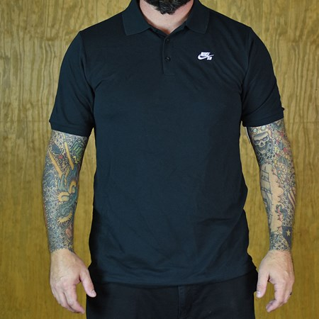 Nike SB Dri-Fit Pique Polo Shirt Black in stock now.
