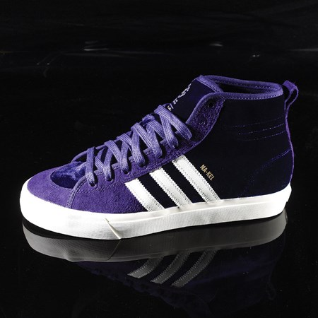 Size 11 in adidas Matchcourt RX Na-Kel Shoes, Color: Dark Purple, Ecru, Metallic Gold
