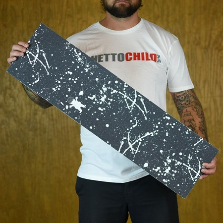 Grizzly Griptape Boo Johnson Splatter Grip Black in stock now.