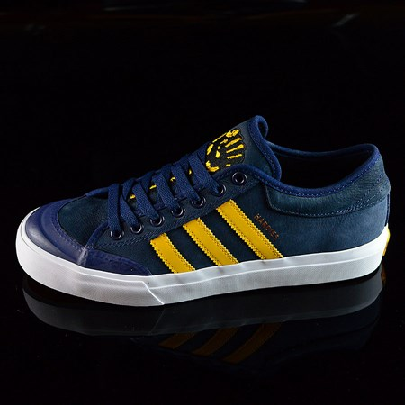 Size 9 in adidas adidas X Hardies Matchcourt Shoes, Color: Navy, Yellow, White