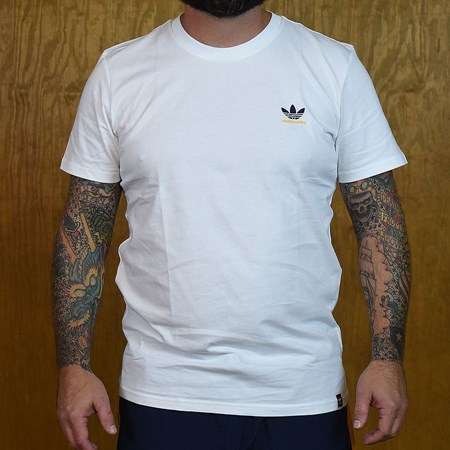 adidas adidas X Hardies T Shirt White, Navy, Yellow in stock now.
