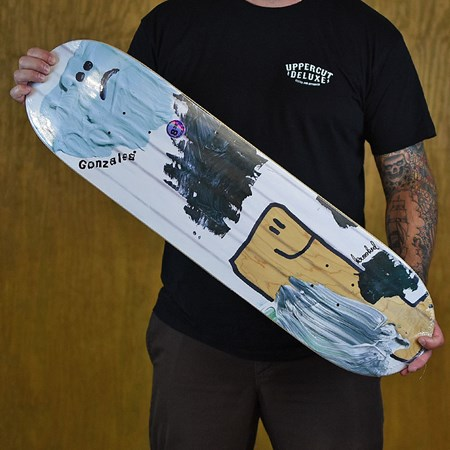 Krooked Gonz Ribbed Deck White