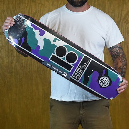 Plan B Torey Pudwill Camo Black Ice Deck Black, Purple, Green